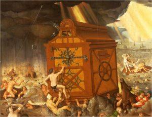Sintflut von Hans Baldung Grien von 1516   Bayerische Staatsgalerie, Zweiggalerie Neue Residenz gemeinfrei