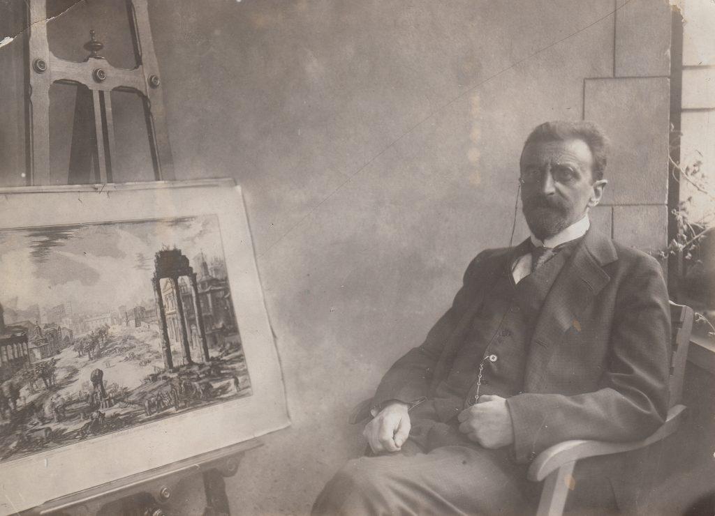Eduard Norden auf dem Balkon seines Lichterfelder Hauses (Quelle Familie Norden)