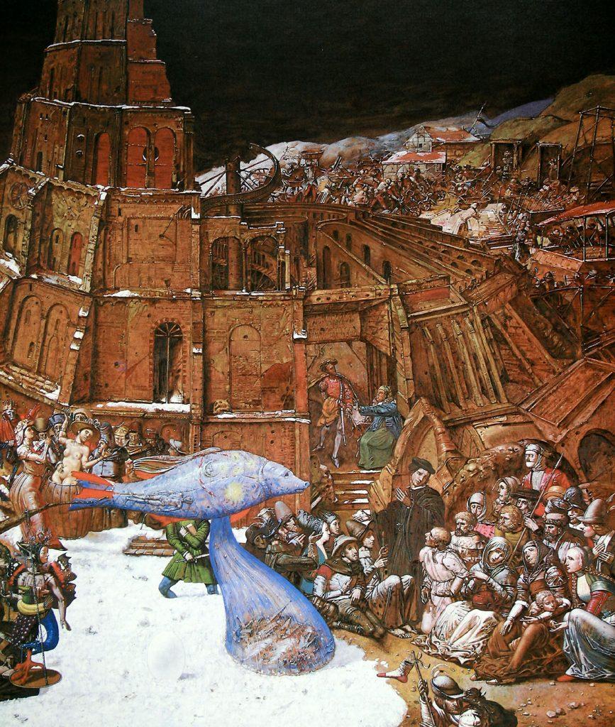 Bauernkriegspanorama   A usschnitt: Turmbau zu Babel